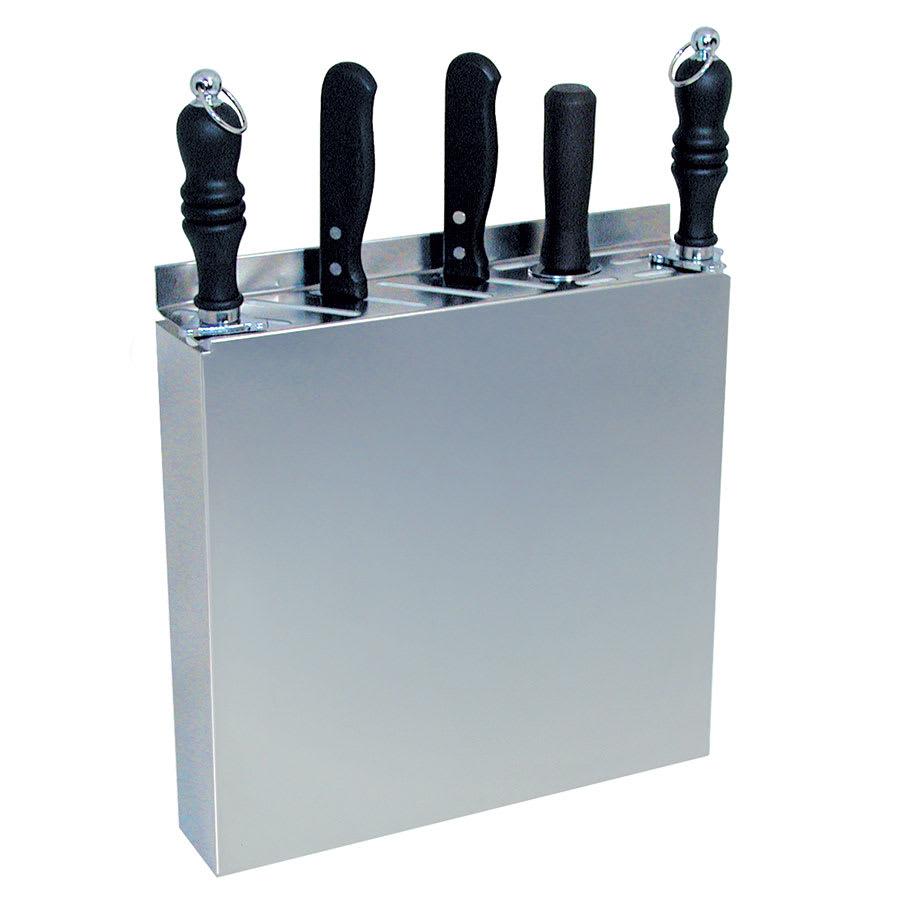 """Update KR-1212 12 Slot Knife Rack - 12 1/2x2 1/2x12 3/4"""" Stainless"""