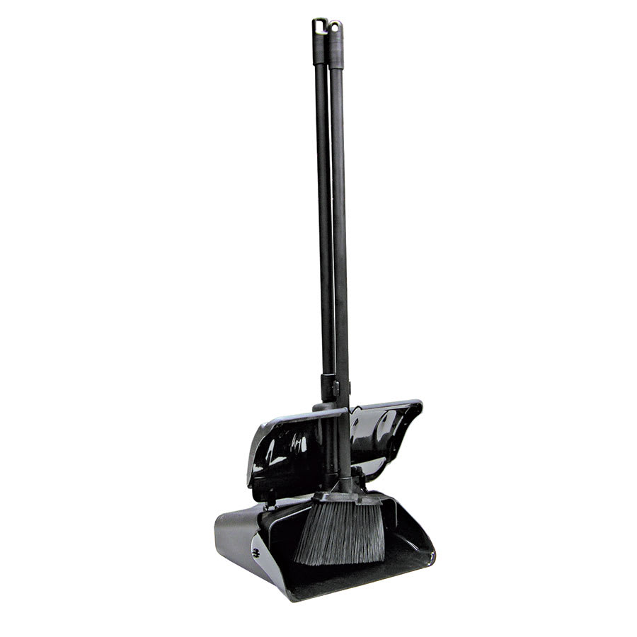 Update LDP+B Lobby Dust Pan and Broom Set - Black