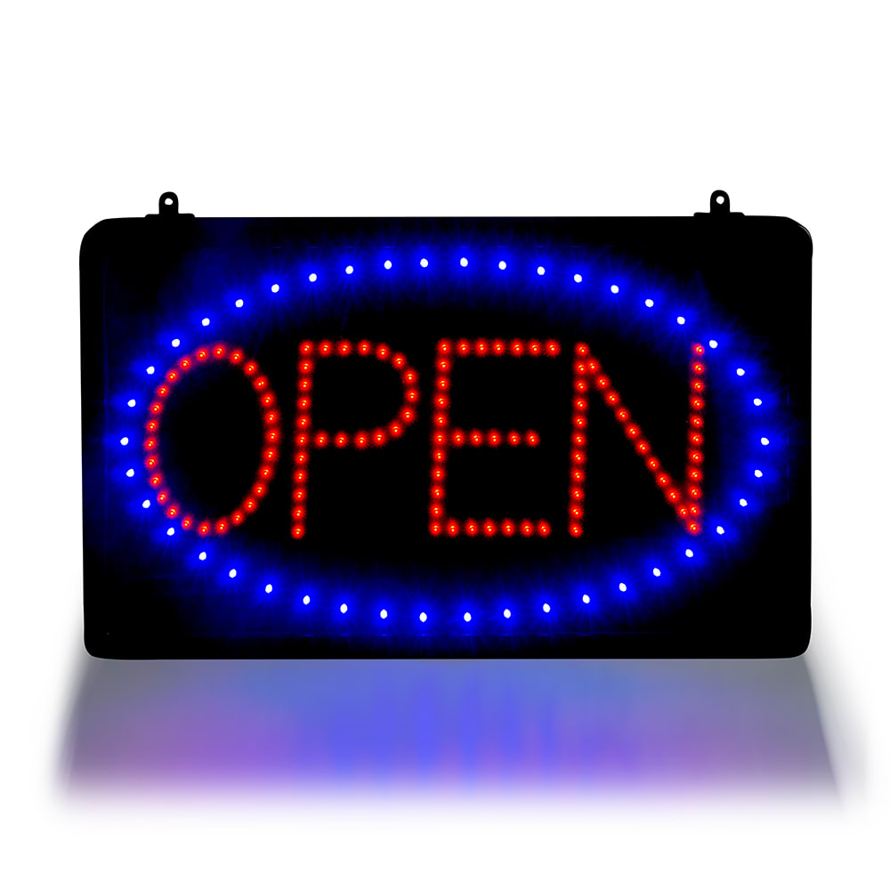"Update LED-OPEN Open Sign w/ Hanging Chain, LED, 21.625"" x 13"""