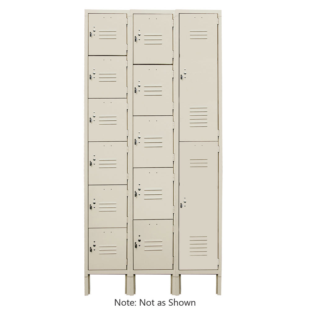 "Update LKR-5BG 5 Tier Storage Locker - 12"" x 15"" x 78"", Steel, Beige"