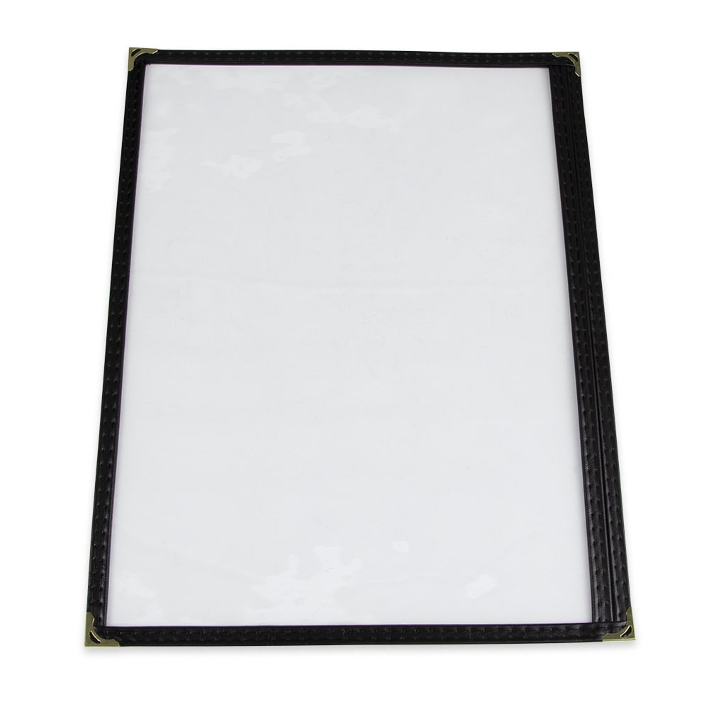 "Update MCV-1BK Single Menu Cover - 9 1/4x12"" Transparent/Black"