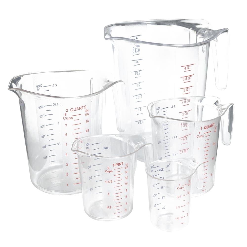 Update MEA-PC/SET 5 Piece Measuring Cup Set - Polycarbonate