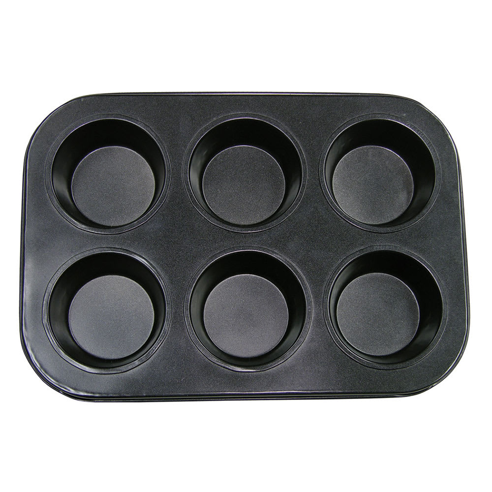"Update MPNS-6 6-Cup Muffin Pan - 10.5"" x 7.5"", Carbon Steel"
