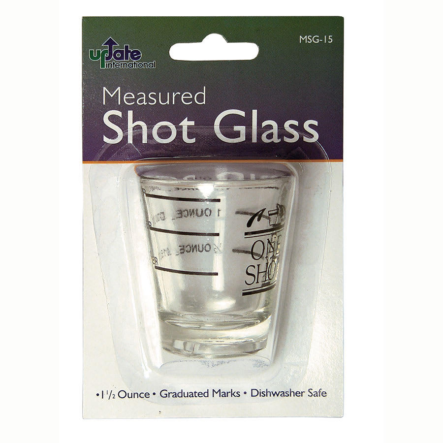 "Update MSG-15 1.5"" Shot Glass w/ Measurement Lines"