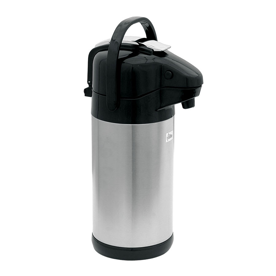 Update NVSL-30BK 3.0 liter Sup-R-Air Airpot - Stainless Liner, Black Lever Top, Stainless