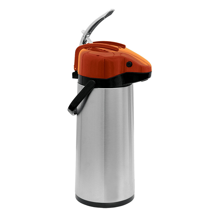 Update NVSL-30OR 3.0-liter Sup-R-Air Airpot - Stainless Liner, Orange Lever Top, Stainless