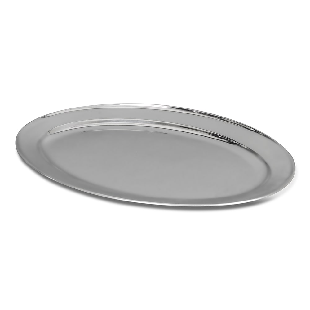 "Update OP-18 Oval Platter - 18x12"" Stainless"