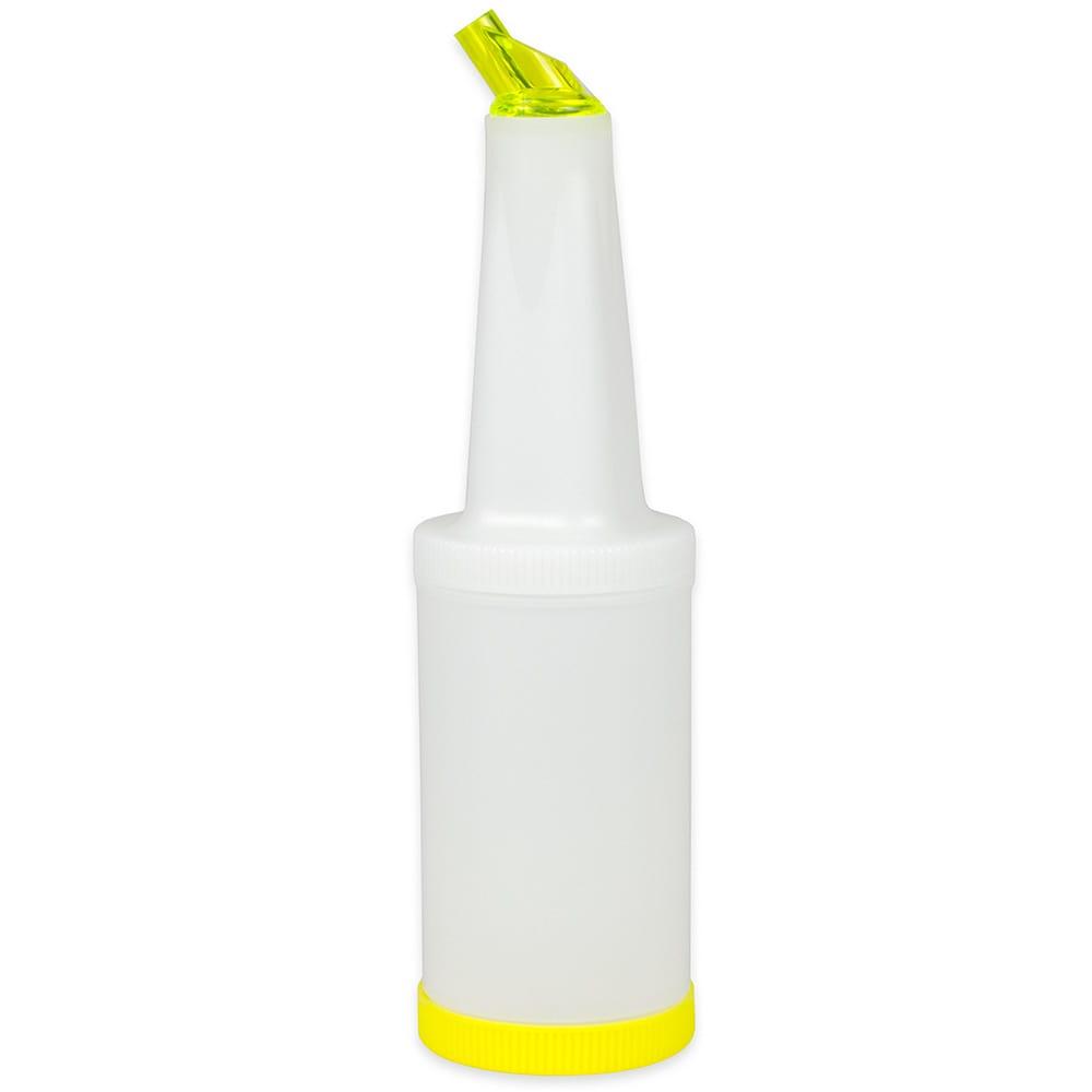 Update PBY-10 1 qt  Flow-N-Store Pour Bottle - Yellow Lid/Spout