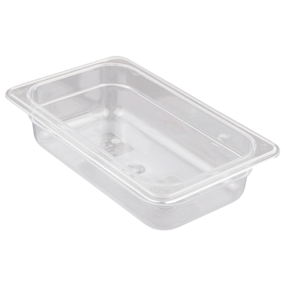 "Update PCP-252 1/4 Size Food Pan - 2-1/2"" D, Polycarbonate"