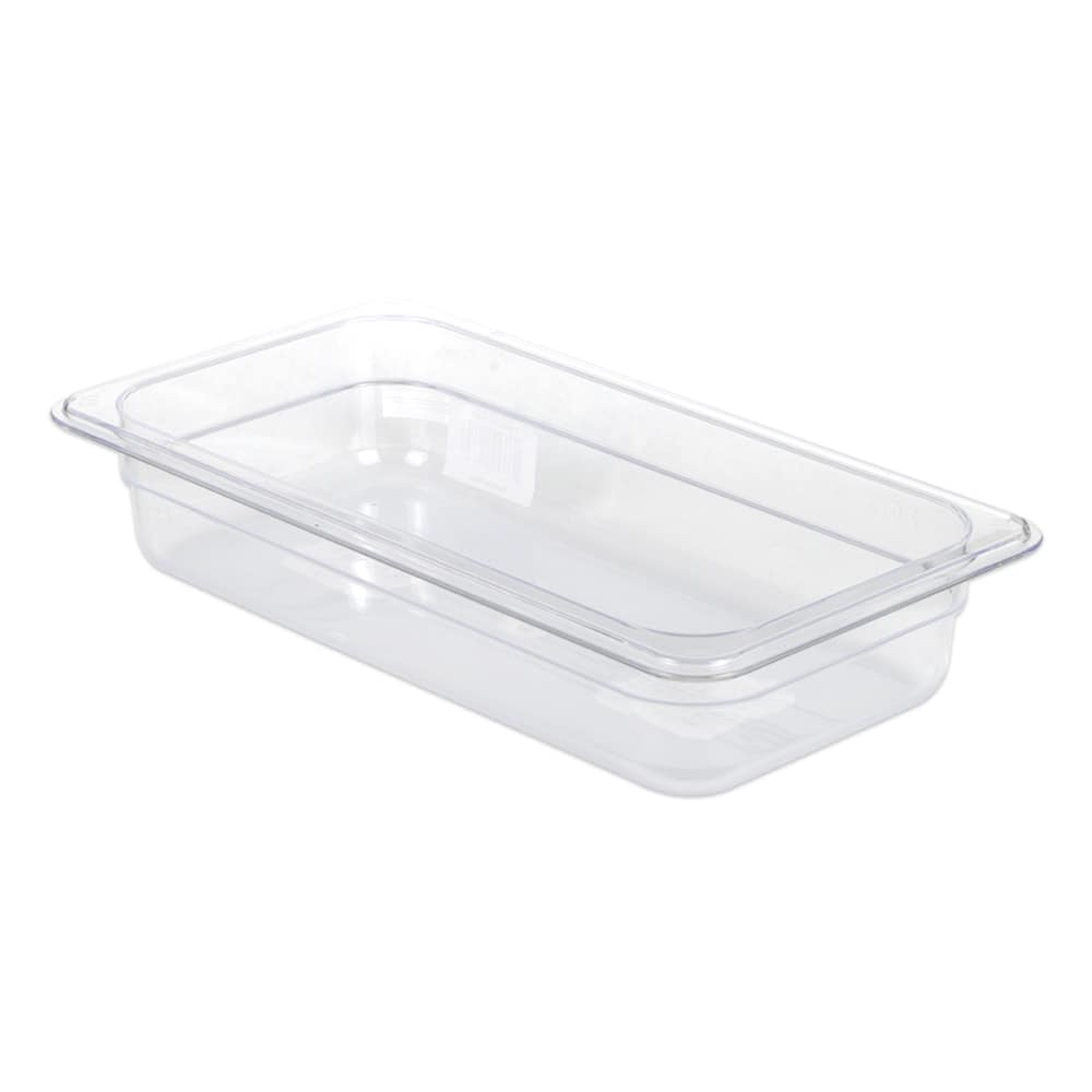"Update PCP-332 1/3 Size Food Pan - 2 1/2"" D, Polycarbonate"