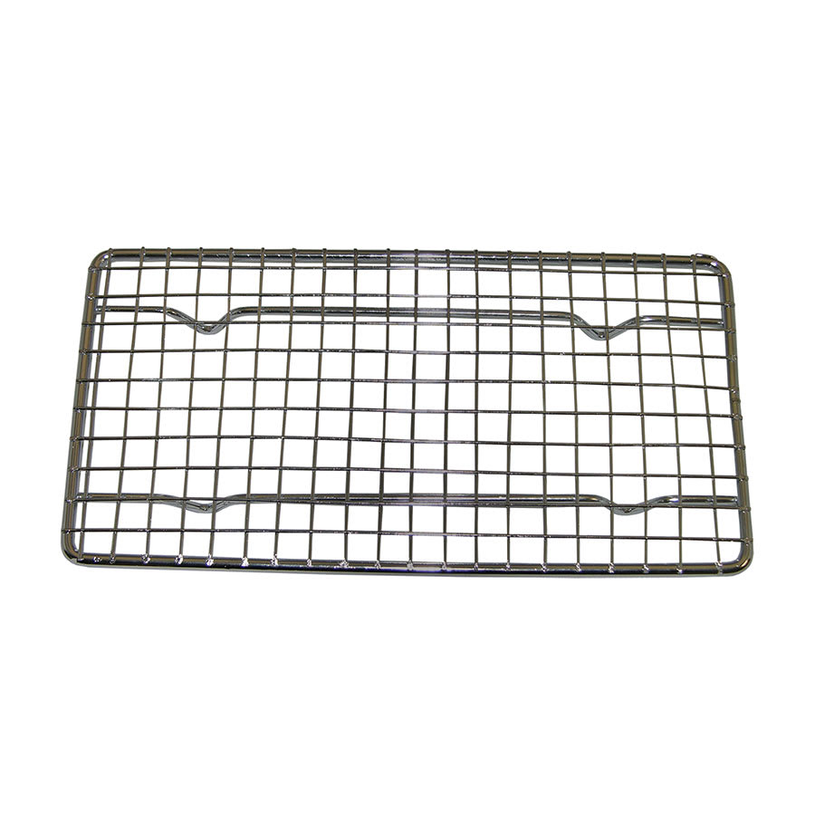 "Update PG48 Wire Pan Grate - 4-1/4x8-1/4"" Chrome-Plated"