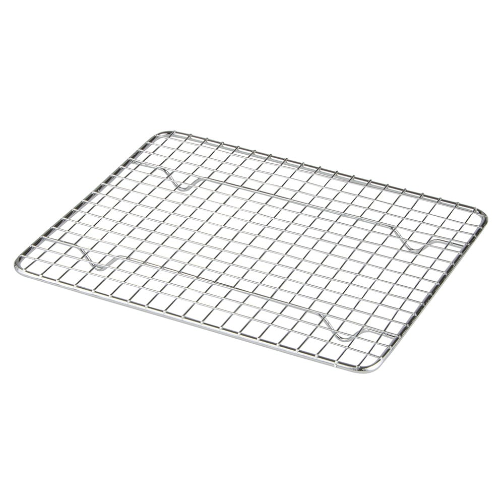 "Update PG810 1/2 Size Wire Pan Grate - 8x10"" Chrome-Plated"