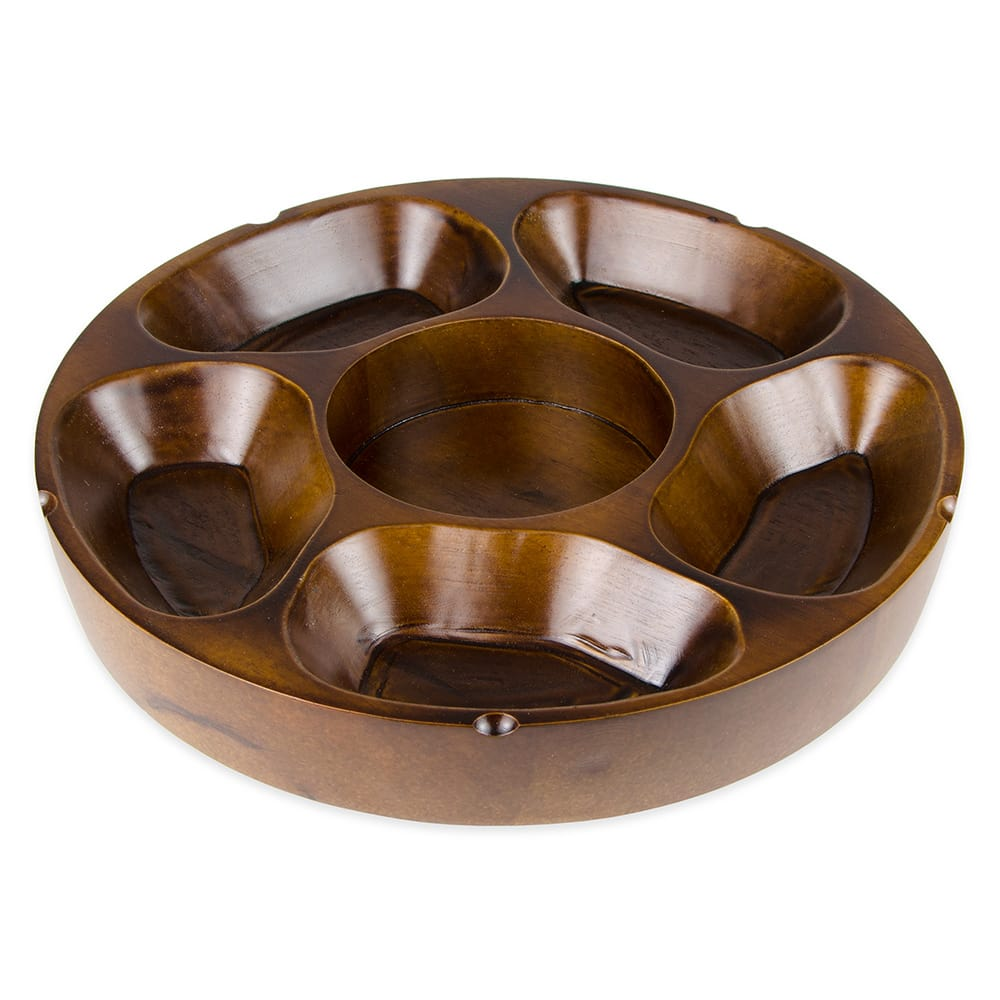 "Update PP-512 12"" Round Pu Pu Platter - 5 Compartment"