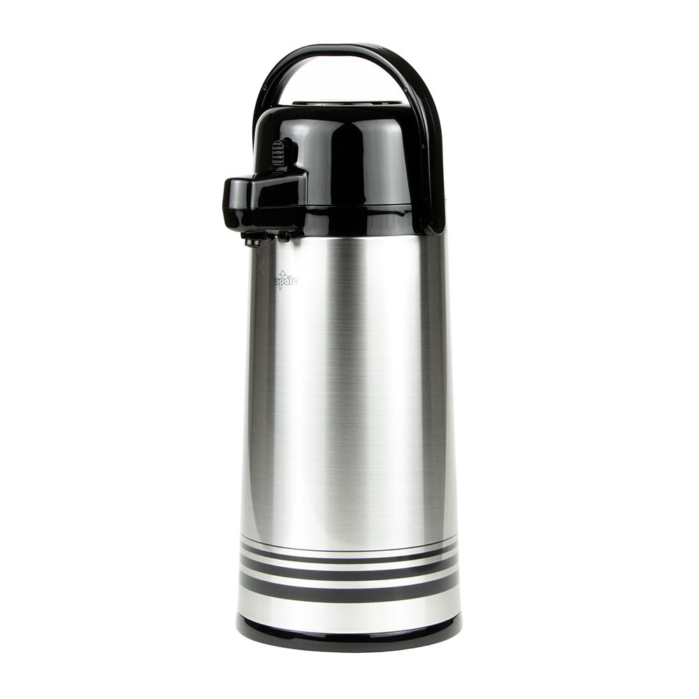 Update PSVL-25-BK/SF 2.5 liter Sup-R-Air Airpot - Stainless Liner, Black Push Top, Brushed Stainless