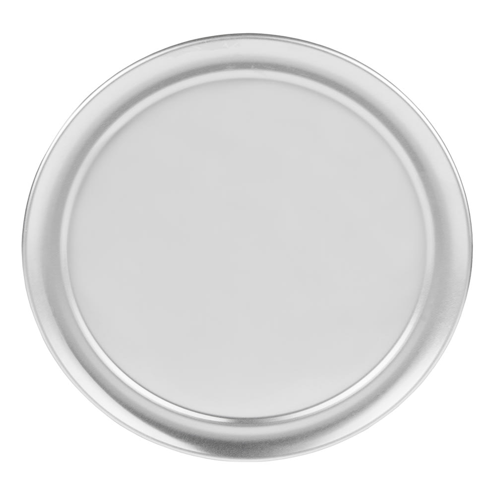 "Update PT-WR10 10"" Wide Rim Pizza Tray - Aluminum"