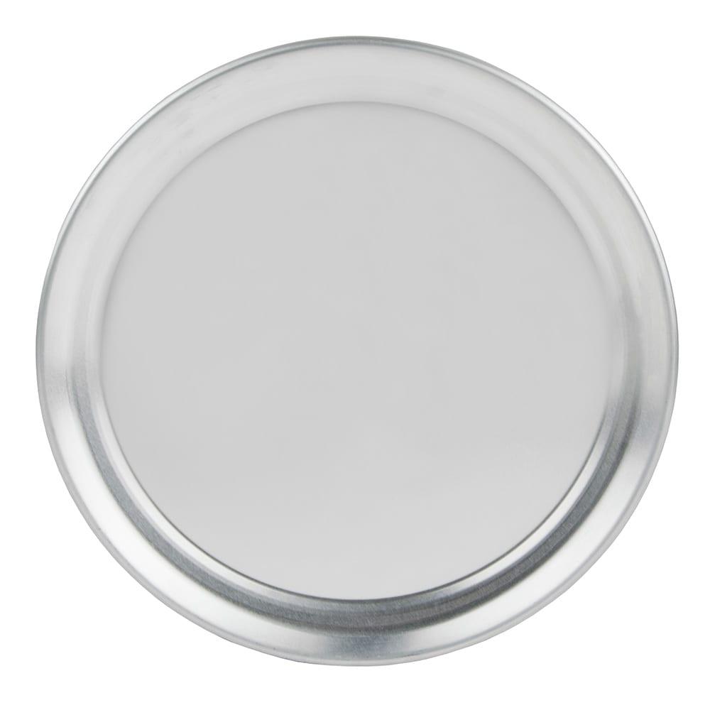 "Update PT-WR8 8"" Wide Rim Pizza Tray - Aluminum"