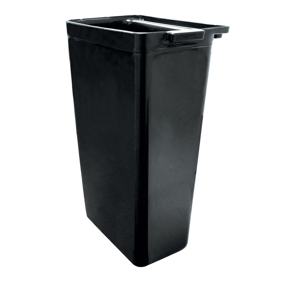 "Update RB-20BK Refuse Bin - 13x9x22"" Heavy-Duty Plastic, Gloss Black"