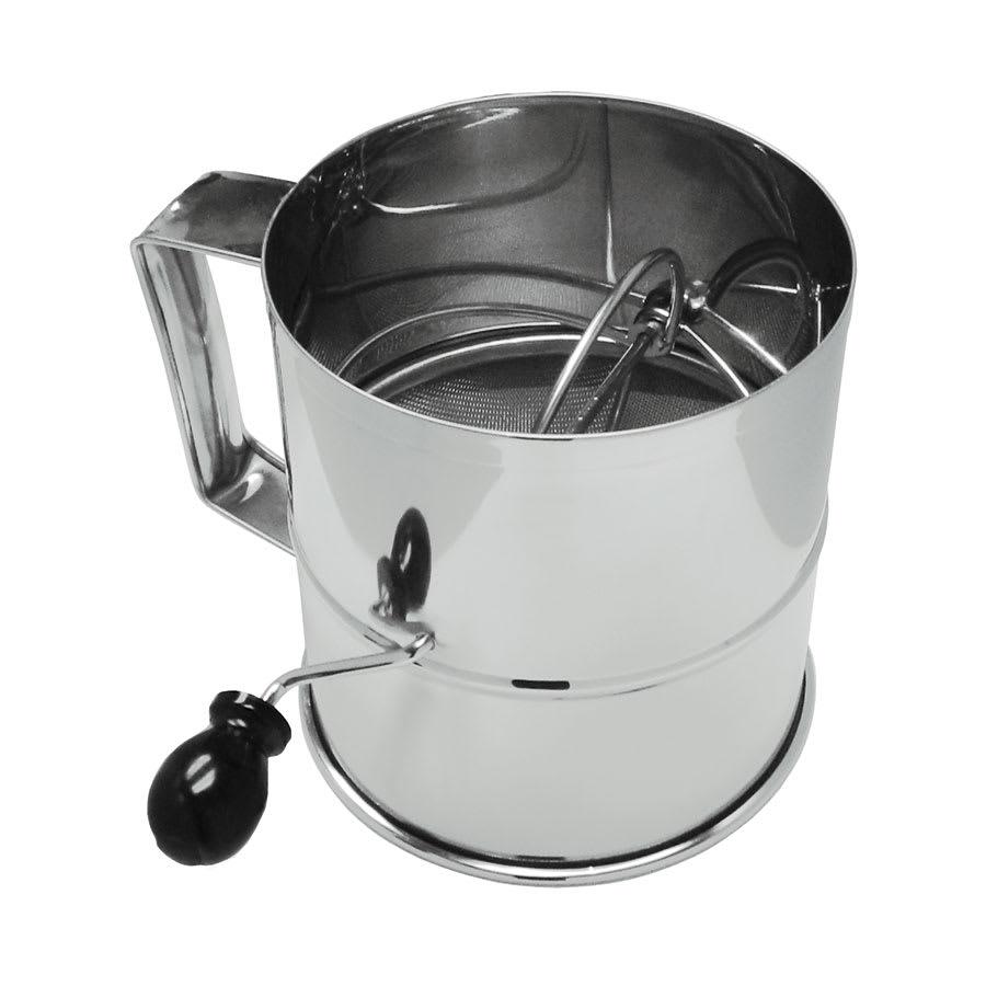 """Update RFS-3LB 6-1/2"""" Rotary Flour Sifter - 8-cup Capacity, Stainless"""