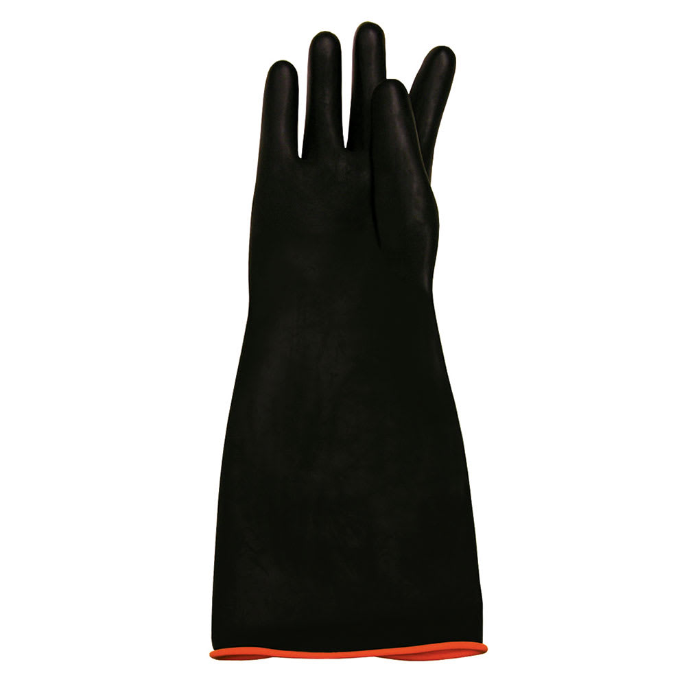 """Update RG-18HD 18"""" Elbow-Length Cleaning Gloves - Rubber, Black"""