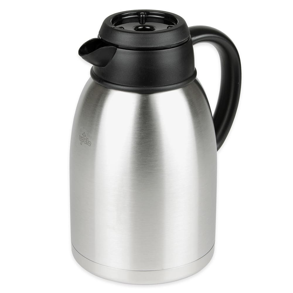 Update SA-19B&O 1.9-liter Sup-R-Serv Coffee Server - Black/Orange Bru-Thru Lids, Stainless