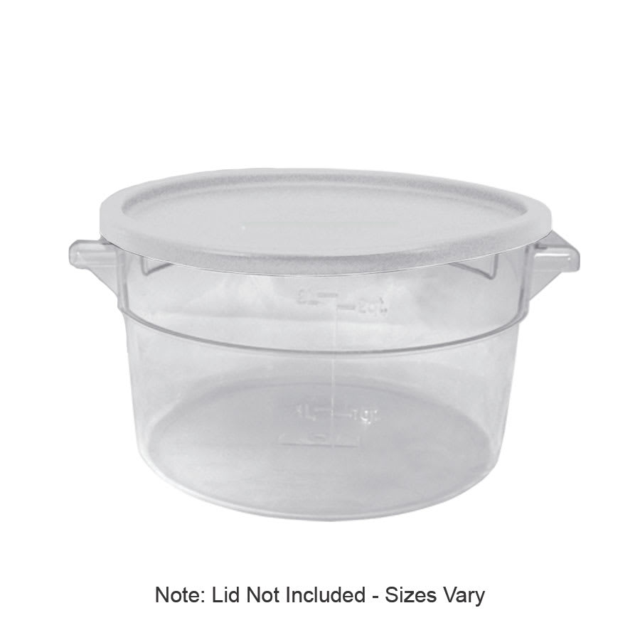 Update SCR-6PC 6-qt Round Storage Container - Polycarbonate