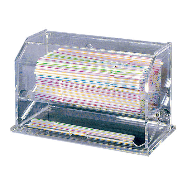 "Update SD-AC Straw Dispenser - 11x5 1/2x6 3/4"" Clear Acrylic"