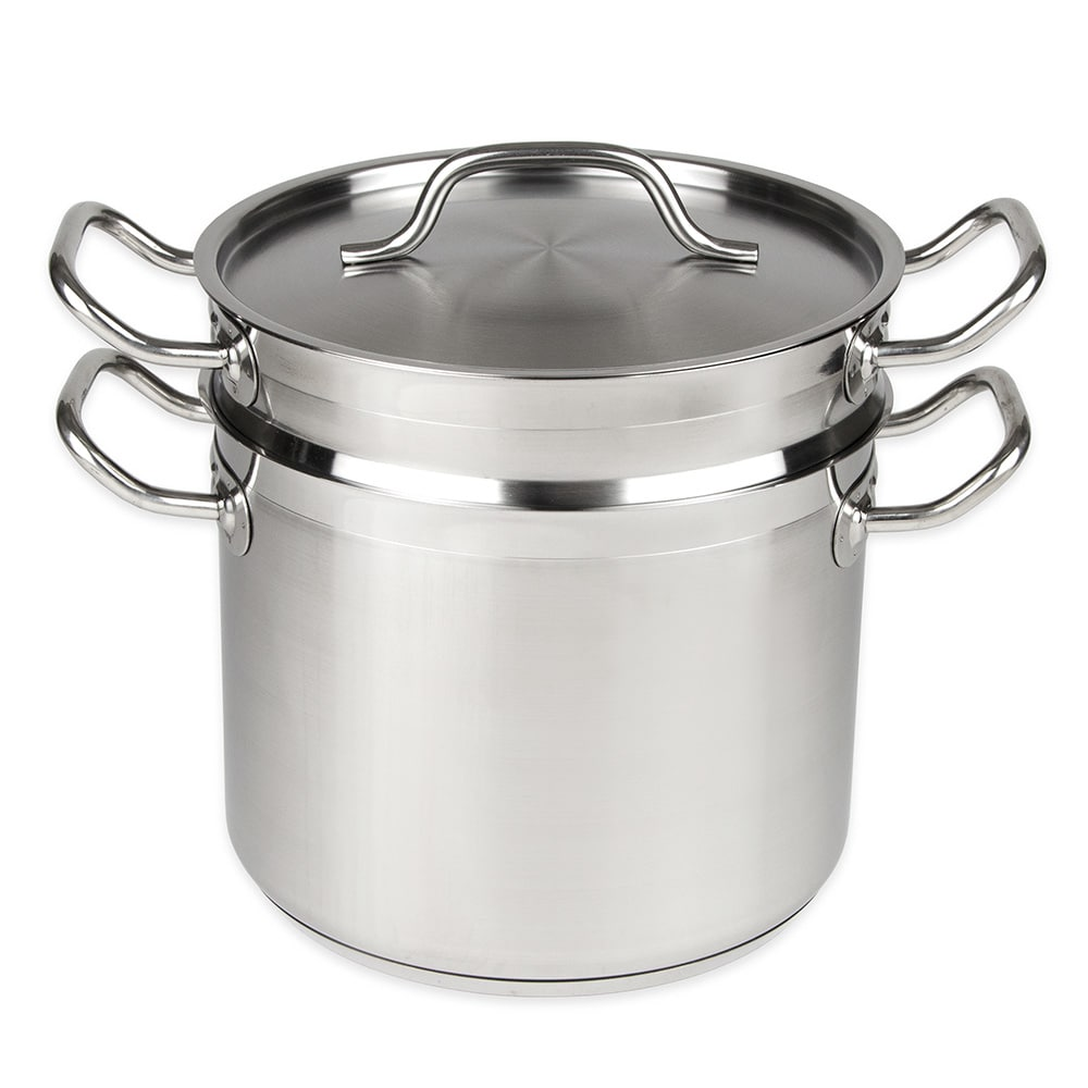 "Update SDB-08 9.5"" Stainless Steel Double Boiler w/ 8 qt Capacity"