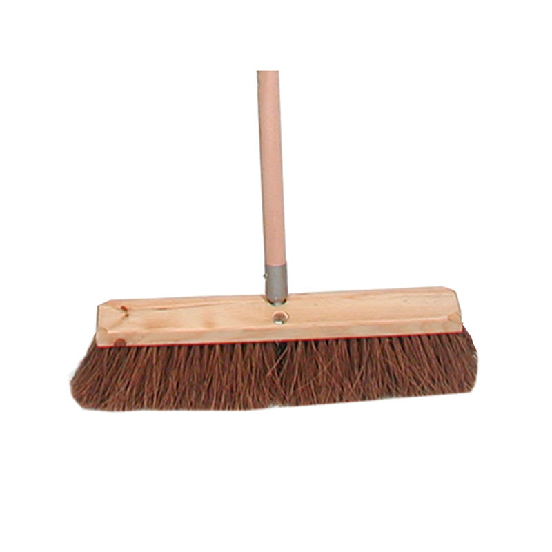 "Update SFB-24P 24"" Palmyra Push Broom - Hardwood Block"