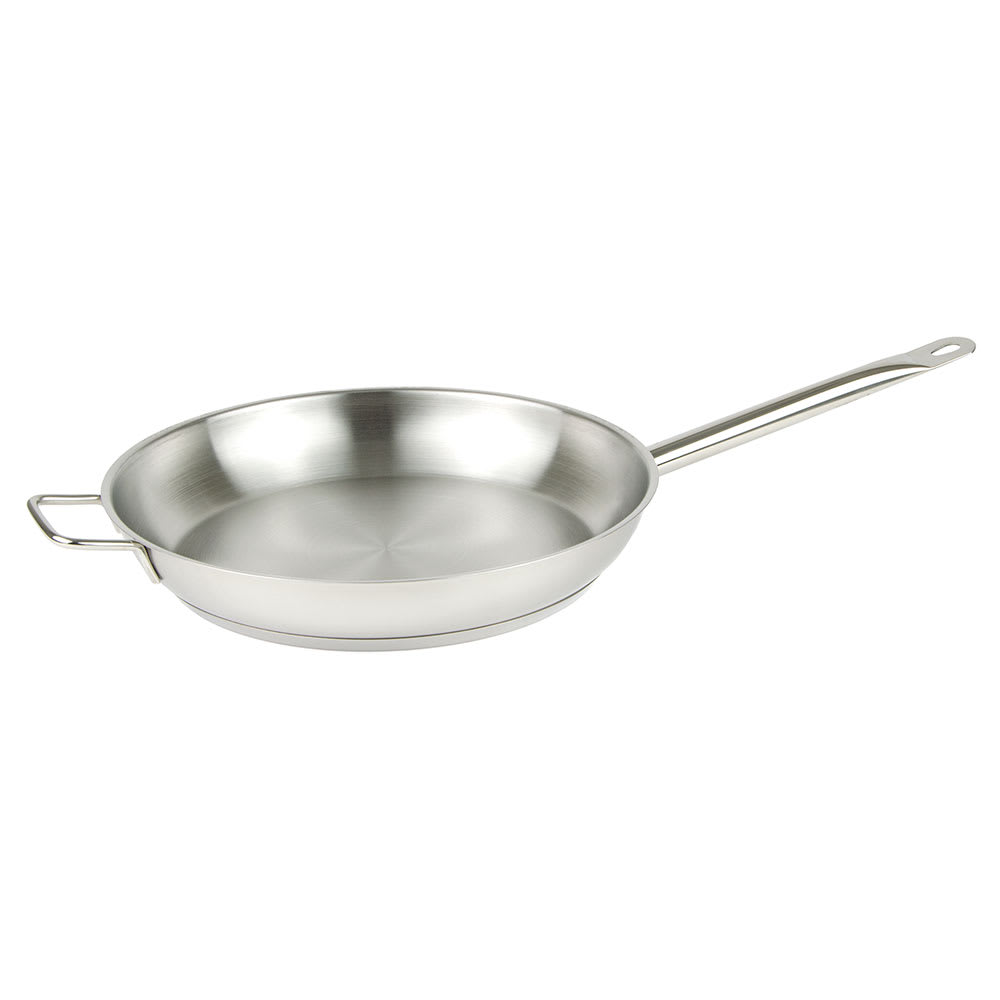 """Update SFP-12 12"""" Stainless Steel Frying Pan w/ Hollow Metal Handle"""