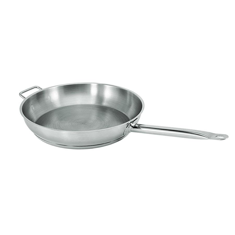 """Update SFP-14 14"""" Stainless Steel Frying Pan w/ Hollow Metal Handle"""
