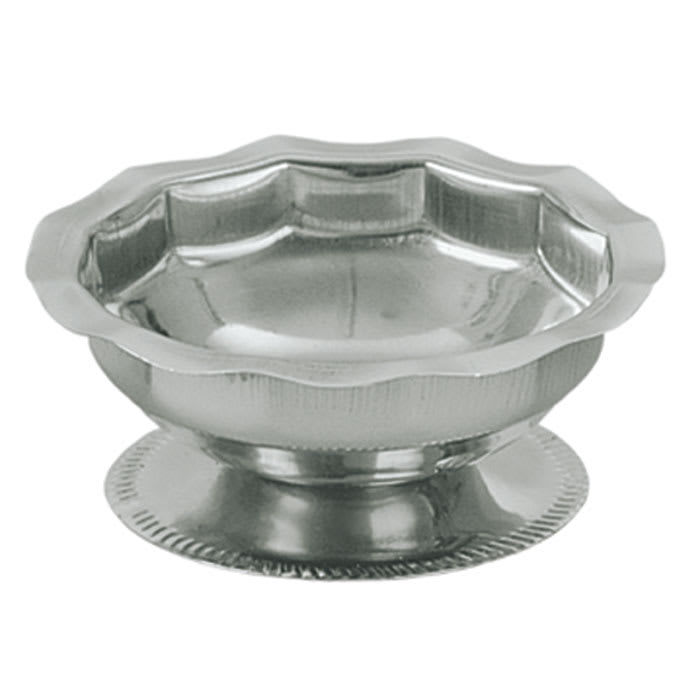 Update SH-35 3 1/2 oz Footed Sherbet Dish - Scalloped Top, Stainless