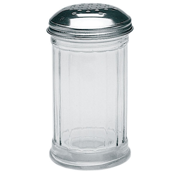 Update SK-FPF 12-oz Cheese Shaker w/ Chrome-Plated Top, Glass
