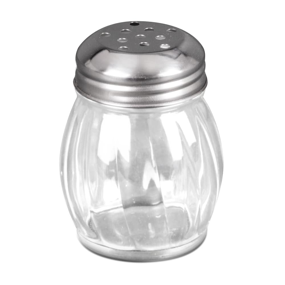 Update SK-RPF 6 oz Swirl Shaker - Perforated Top, Glass/Chrome