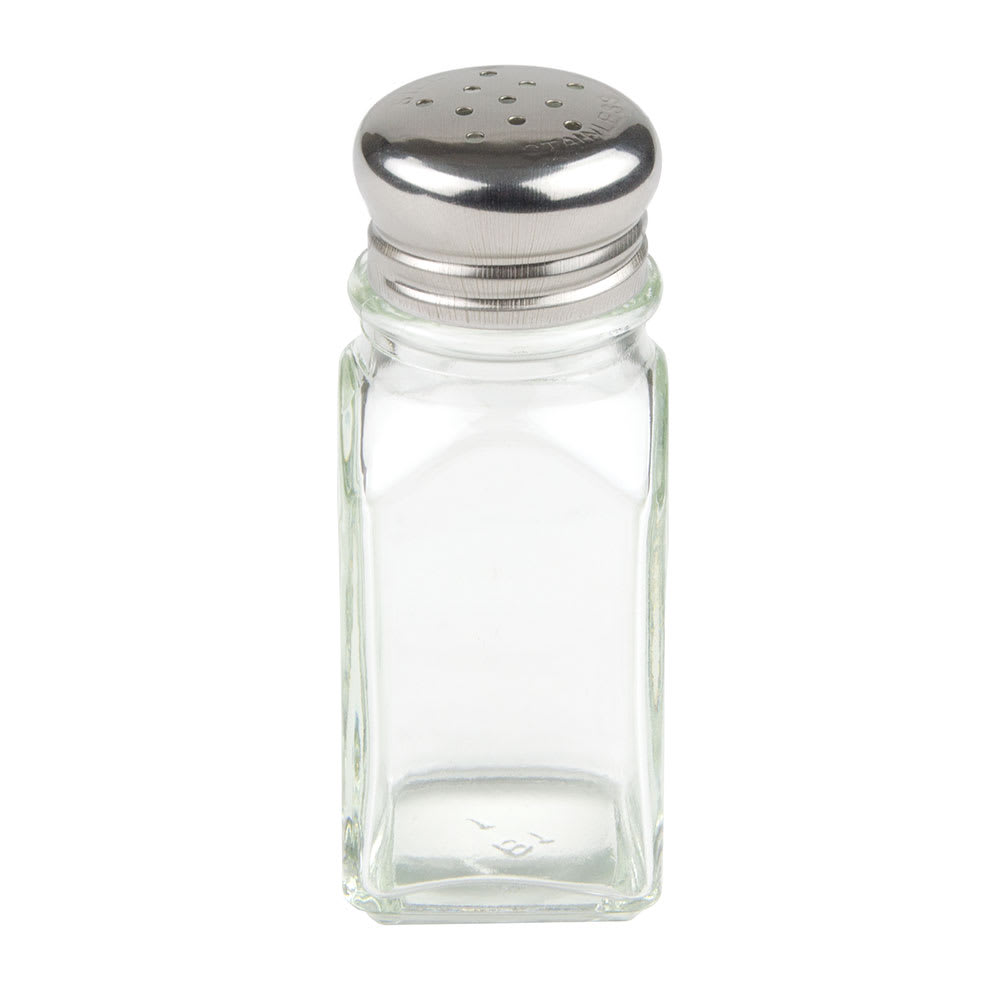 Update SK-SM 2-oz Shaker for Salt/Pepper - Metal Lid, Square