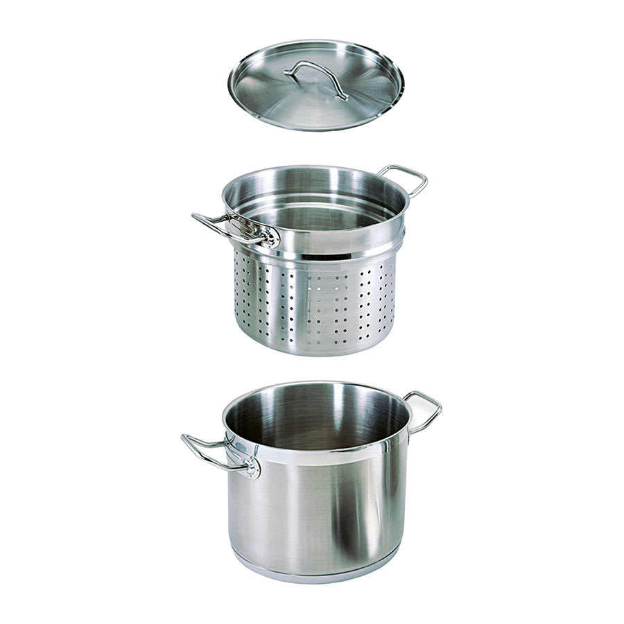 Update SPSA-12 12 qt SuperSteel Induction Pasta Cooker Set - Stainless