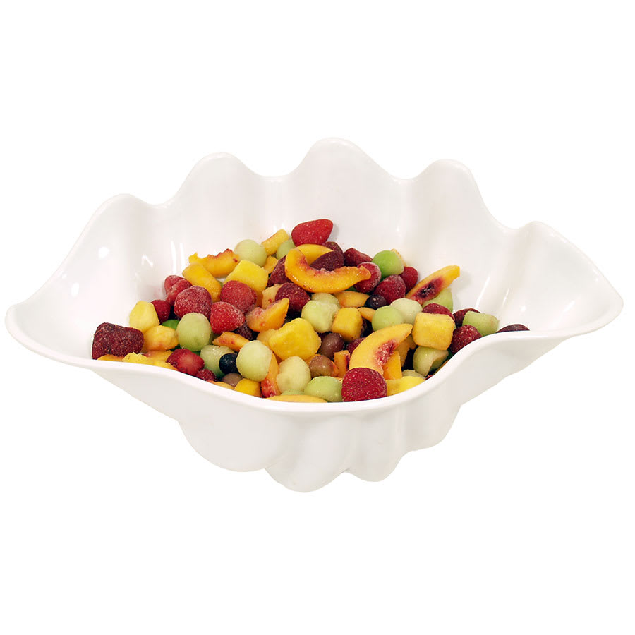 Update SSB-1W 1 qt Shell Salad Bowl - White