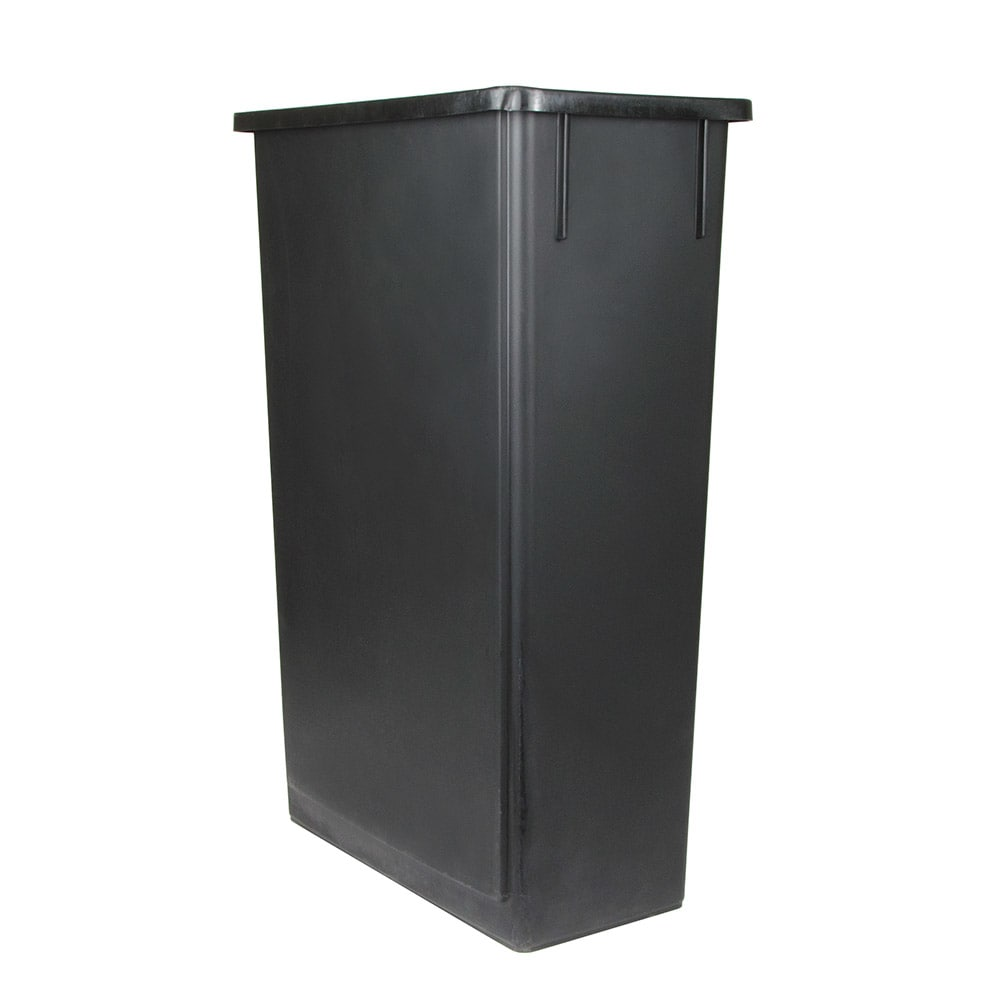 "Update SSC-23BK 23 gal Rectangle Slim Trash Can, 20.13""L x 11.13""W x 29.5""H, Black"