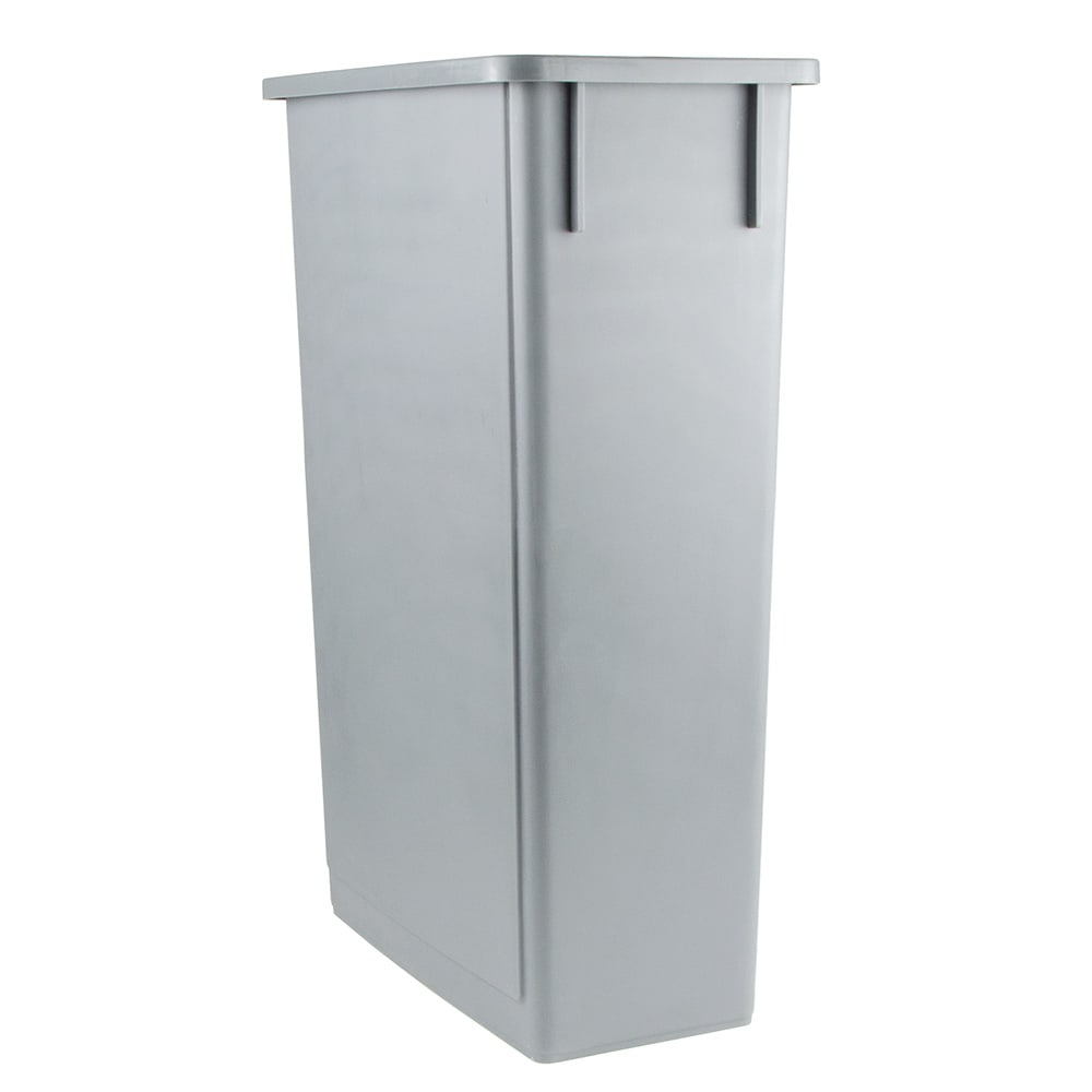 "Update SSC-23G 23 gal Rectangle Slim Trash Can, 20.13""L x 11.13""W x 29.5""H, Gray"