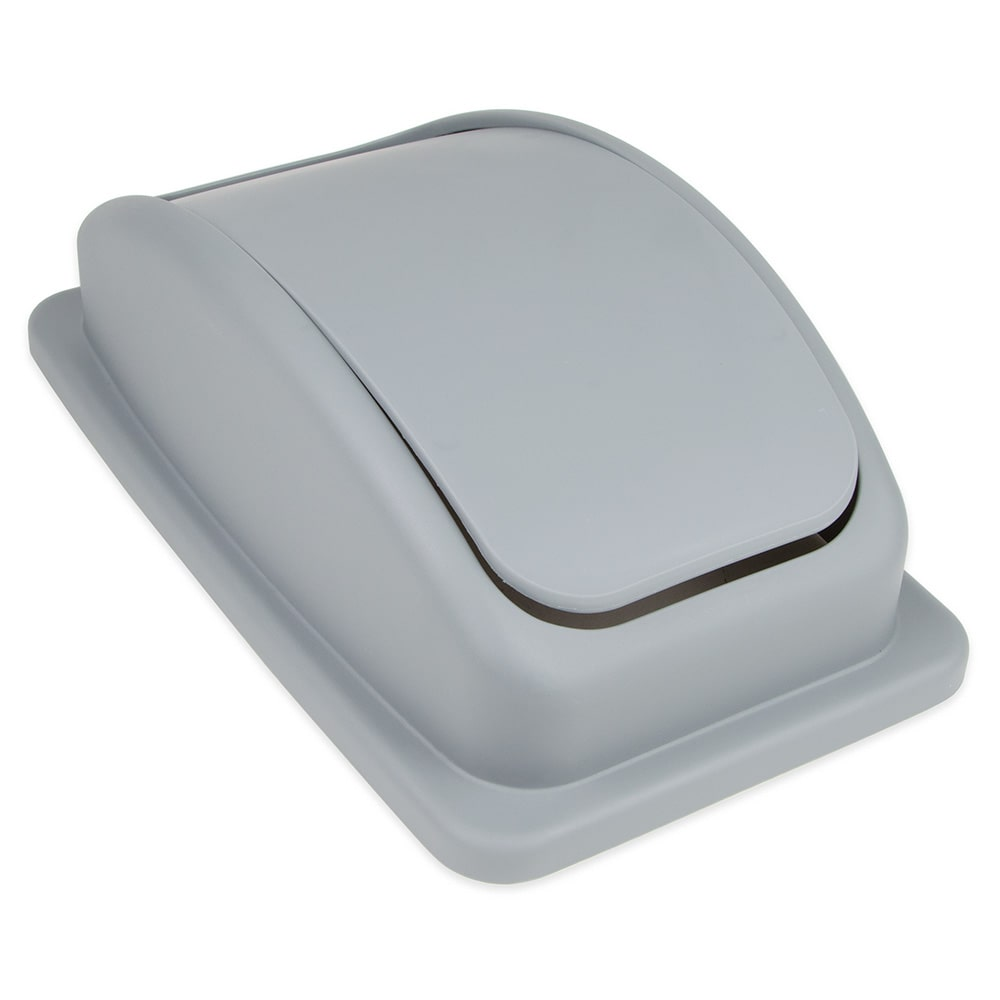 Update SSCL-23G Rectangle Dome Trash Can Lid - Plastic, Gray