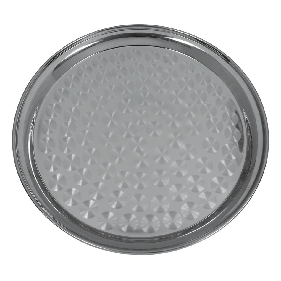 "Update SST-16R 16"" Round Serving Tray, Stainless"