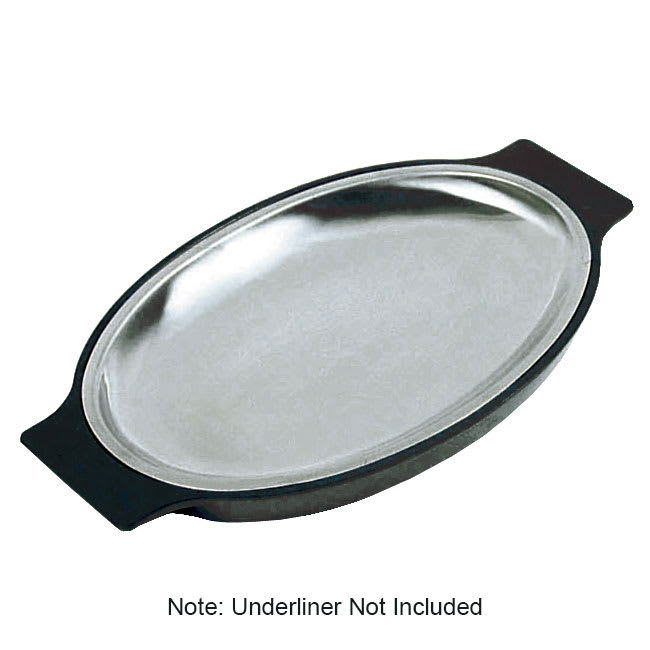 Update SZP-11 Stainless Sizzle Platter - 11 5/8x8