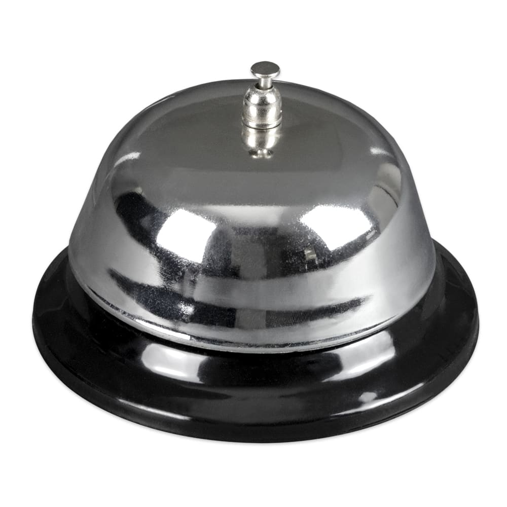 "Update TB-40 4"" Table Bell - Chrome/Black"