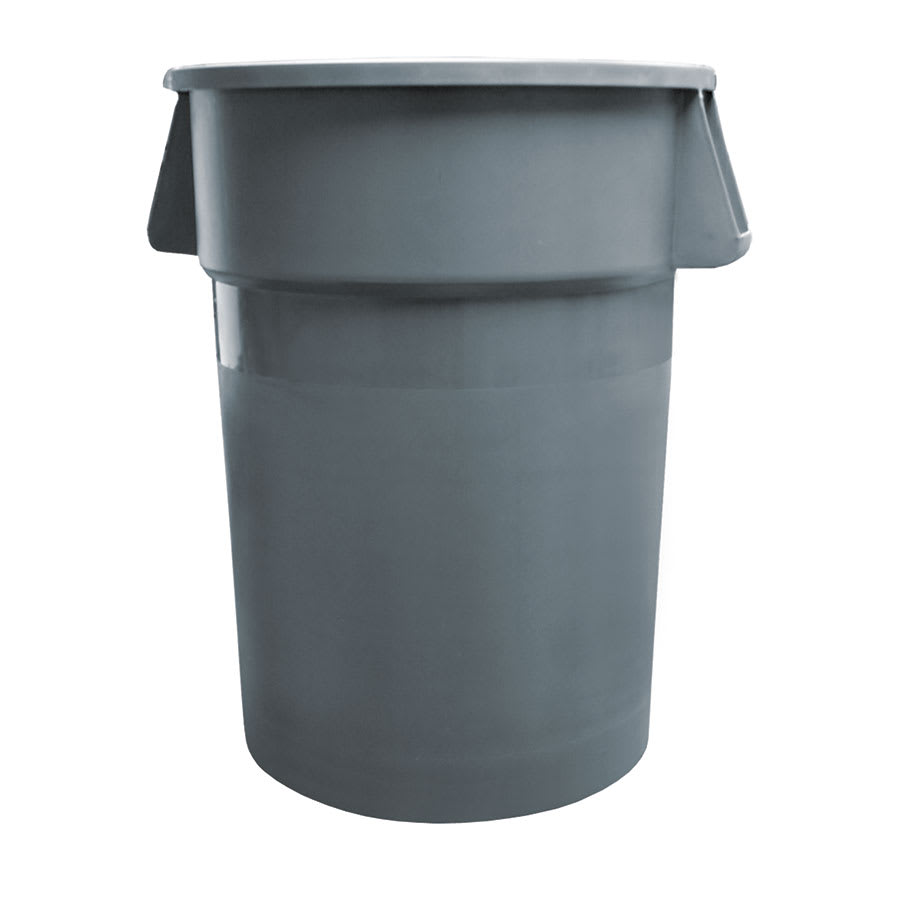 Update TC-44G 44-gallon Commercial Trash Can - Plastic, Round, Built-in Handles
