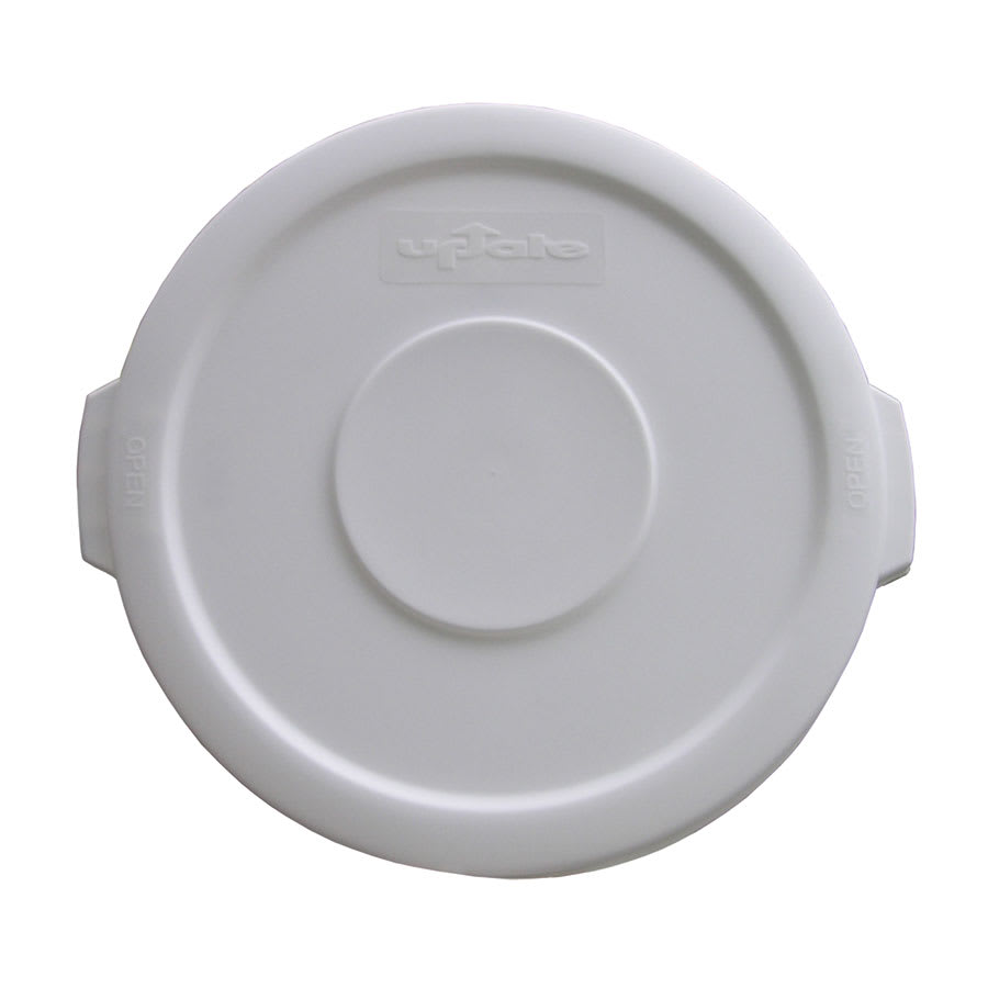 Update TCL-10W Round Flat Top Trash Can Lid - Plastic, White