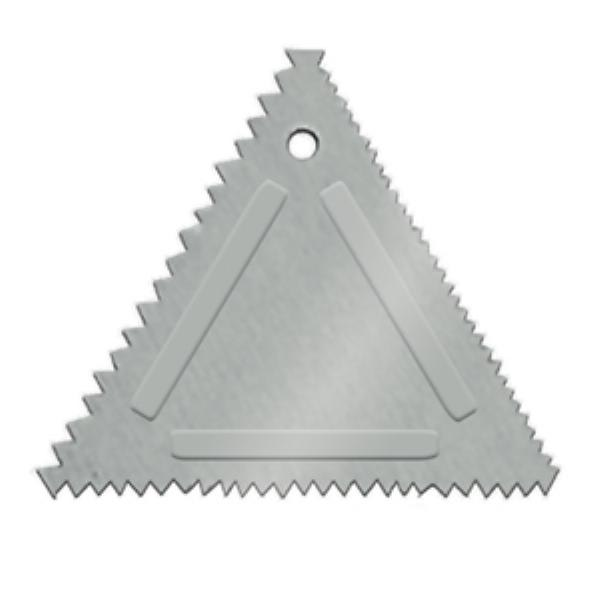 Update TDC-AL Triangular Cake Decorating Comb - Aluminum