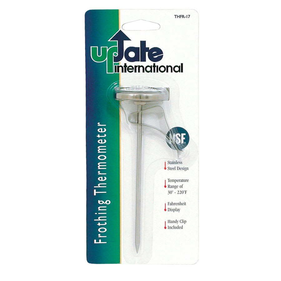 "Update THFR-17 1-3/4"" Dial Frothing Thermometer with Clip"