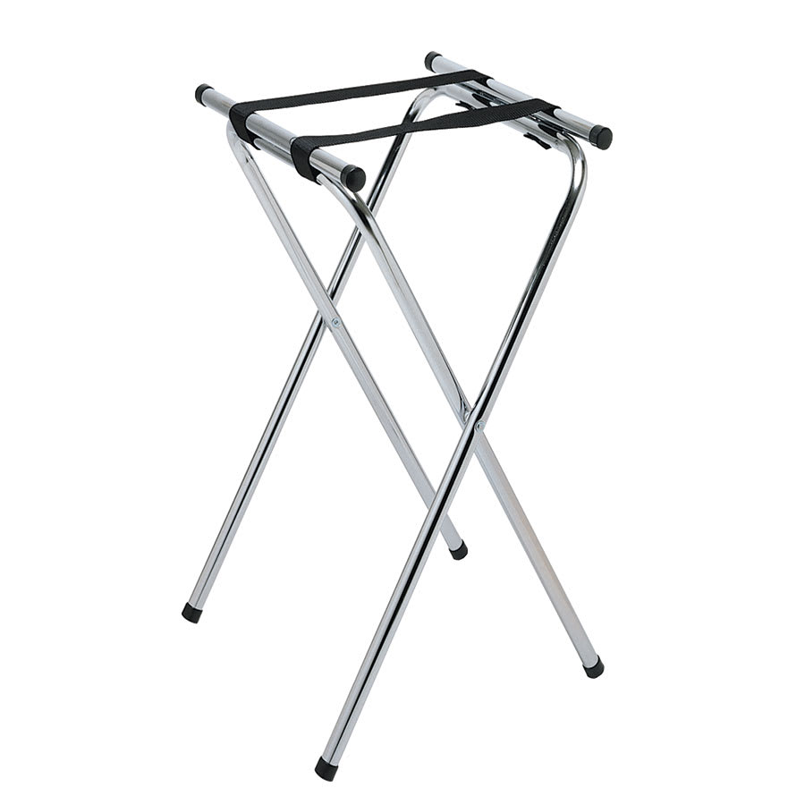 "Update TSC-37 37"" Tray Stand - Chrome Plated"
