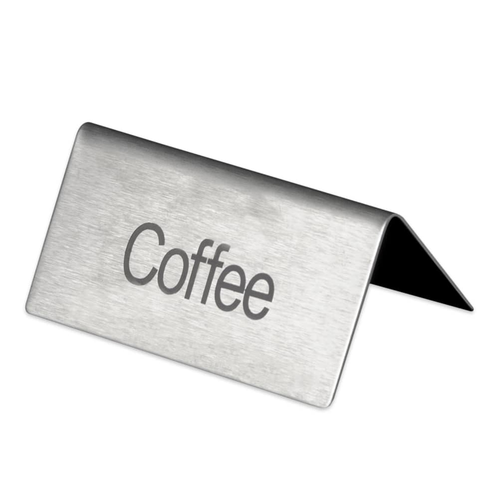 update ts cfe coffee table tent sign 1 5 x 3 stainless