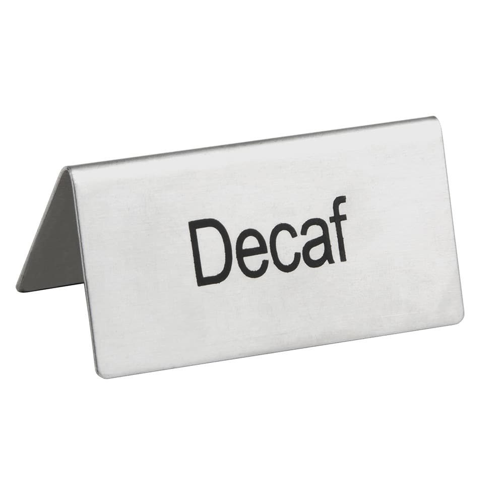 update ts dec decaf table tent sign 1 5 x 3 stainless
