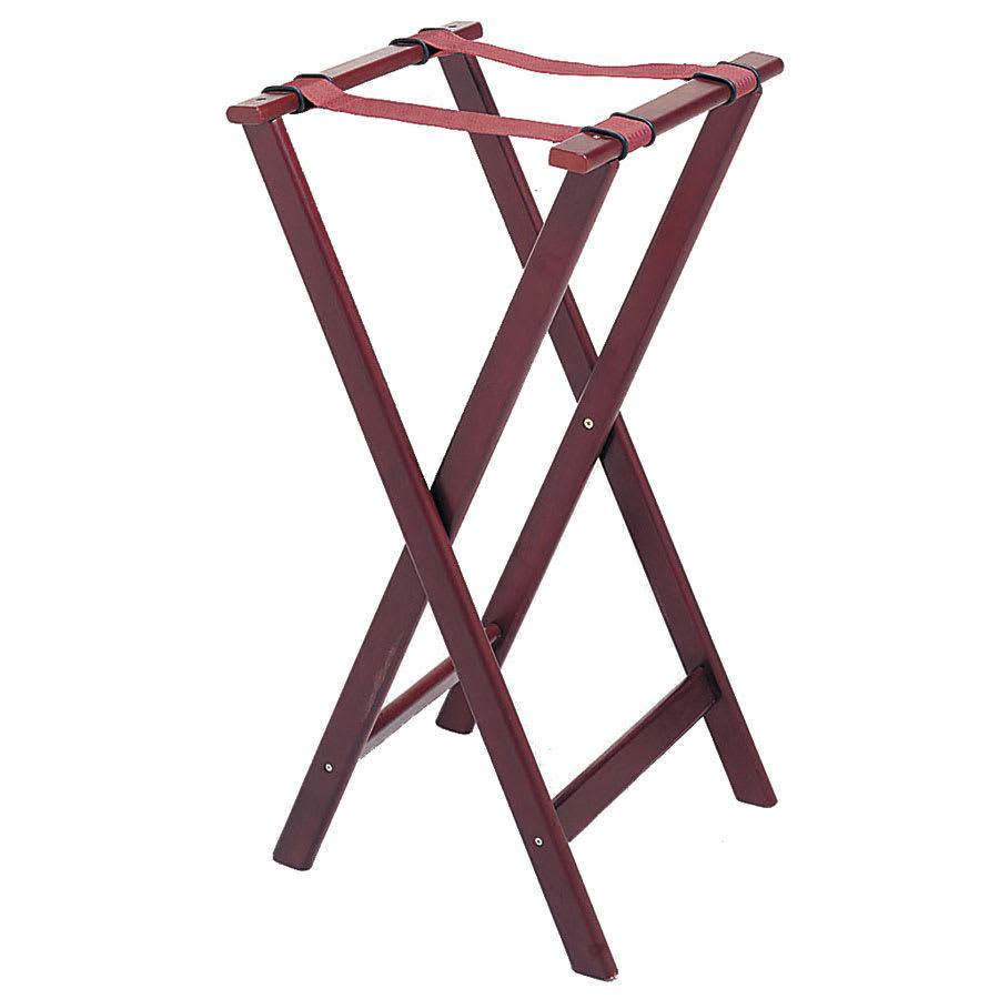 "Update TSW-32 32"" Folding Tray Stand - Cherry Wood Finish"
